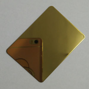 304 Mirror Gold Color Stainless Steel Sheet for Interior Project pictures & photos
