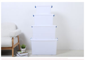 PP Material Plastic Products 15L Plastic Storage Box Food Container Packaging Box with Wheels (17 Litre to 95 Litre) pictures & photos