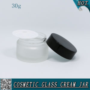 30ml Frosted Glass Cream Jar with Aluminum Screw Cap pictures & photos