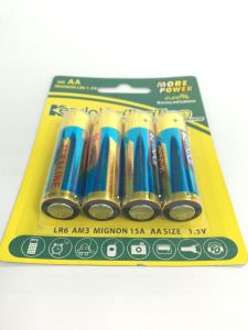 4 PCS Pack AA Lr6 1.5V Alkaline Battery pictures & photos