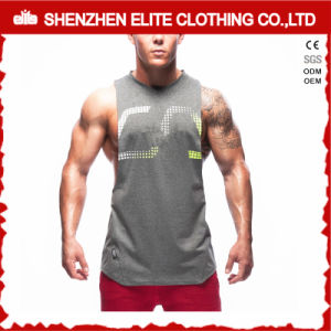 Custom Made High Quality Men′s Plain Tank Tops (ELTVI-6) pictures & photos