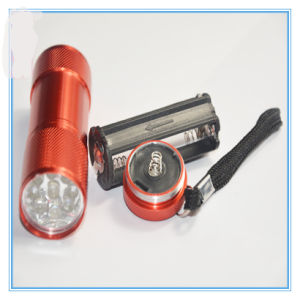9 LED Flashlight with Aluminum Alloy pictures & photos