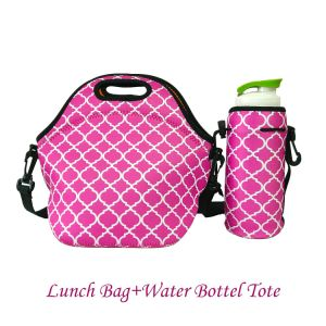 Neoprnee One Bottle/Can Cooler Wine Bag/Wine Tote Carrier Bag / Purse for Champagne, Chardonnay, Water Bottles/Water Bottle Tote +Lunch Bag pictures & photos