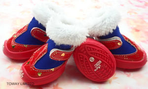 Anti Skid Pet Shoes Fleece Warm Sports Dog Boots pictures & photos