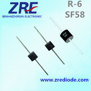 5A Sf51 Thru Sr58 Super Fast Recovery Rectifier Diode R-6 Package pictures & photos