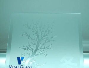 6-12mm Tinted Acid Etched Patterned Glass with CE pictures & photos