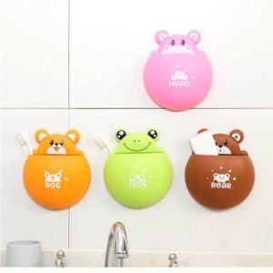 Animal Stars Wall Mounted Suction Toothbrush Toothpaste Holder Storage Organizer pictures & photos