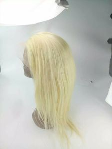10 A Grade Dark Root Blonde Color Brazilian Virgin Human Hair Full Lace Human Hair Wig in Stock Ombre 613 Color Human Hair Wigs pictures & photos