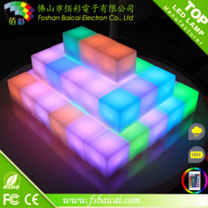 10cm Fashionable Bright LED Cube Bar Furniture for Sale pictures & photos