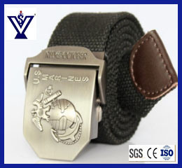 Military Army Nylon Webbing Belt with Metal Buckle (SYSG-244) pictures & photos