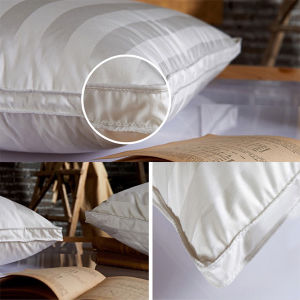 Hilton Hotel Pillow White Goose Down Pillow Inner with Cotton Stripe Cover pictures & photos