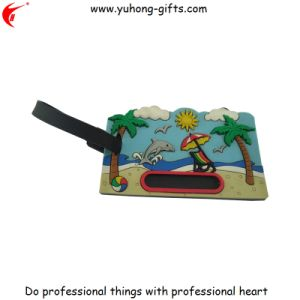 3D Soft PVC Rubber Luggage Tag for Promotion (YH-LT003) pictures & photos