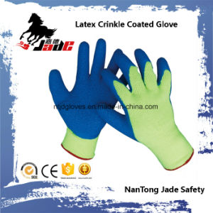 10g Cotton Palm Latex Crinkle Finish Coated Glove pictures & photos