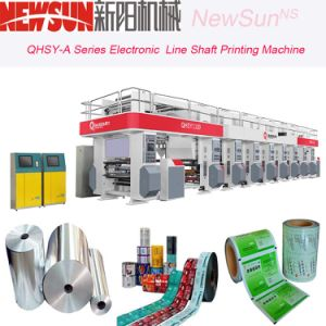 Qhsy-a Series 4 Colors 600mm Width Electronic Line Shaft Plastic Film Gravure Printing Machine pictures & photos