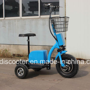 500W Electric Three Wheels Mobility Scooter Handicapped Scooter with Ce pictures & photos