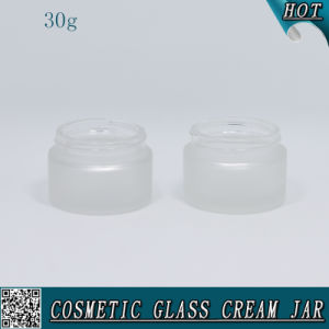 30ml Cosmetic Cream Jar Frosted Glass with Plastic Cap pictures & photos