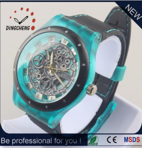 New Style Wristwatch Silicone Bracelet Watch Skeleton Watch (DC-1288) pictures & photos