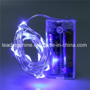 Blue Fairy Lights String Silver Wire AA Battery Powered LED for Outdoor Decorative Wedding Parties pictures & photos