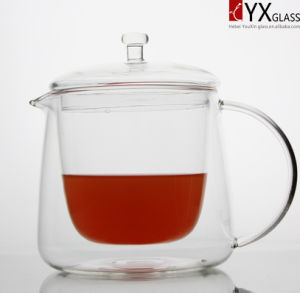 500ml Double Wall Glass Teapot with Glass Lid/Double Wall Glass Tea Maker/Double Wall Glass Tea Kettle pictures & photos