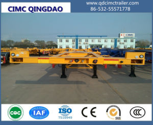 Cimc 2017 Skeleton 40FT Truck Container Trailer with Twist Locks Chassis pictures & photos