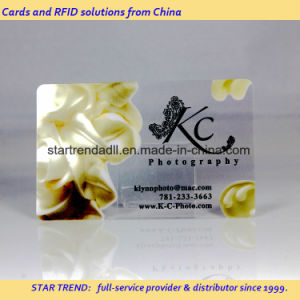 Clear Card with Magnetic Stripe and Emboss pictures & photos