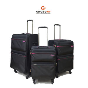 Chubont High Qualilty 4 Wheels Built-in Rolling Luggage Suitcases pictures & photos