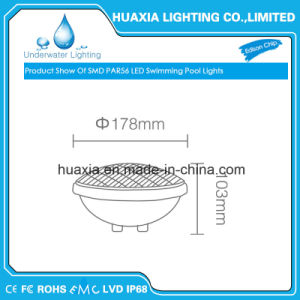 18W PVC PAR56 LED Swimming Pool Lamp pictures & photos