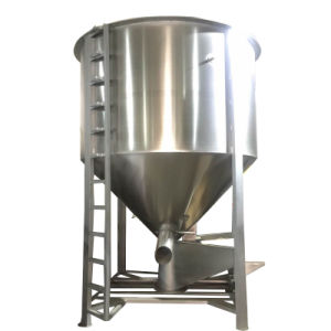 Vertical Feed Mixer / Plastic Pellets Powder Color Mixer with Heater