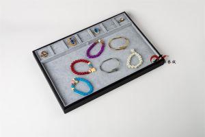 Big Size Gray Velvet Jewelry Display Tray pictures & photos