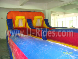 Sports Games Inflatable Bungee Run with Basketball Hoop pictures & photos