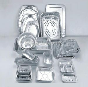 330*229mm High Quality and Oil Free Aluminum Foil Container pictures & photos