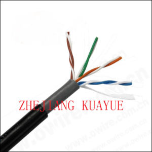 Outdoor Cable 4 Pair UTP Cat5e 24AWG /Communication Cable pictures & photos