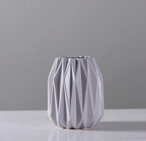 Glassy Surface Ceramic Flowerpot (gray)