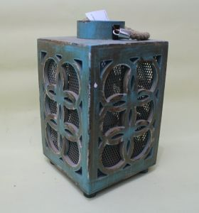 Lake Blue Copper Shape Elegant Classical Lucky Square Lantern pictures & photos