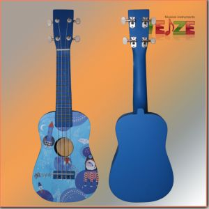 Cheapest All Linder Plywood Ukulele with Decal pictures & photos