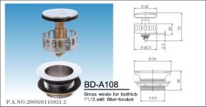 Brass Chrome Plating Spring Bathtub Waste pictures & photos