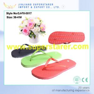 Fashion Flip Flop PVC Strap Women PE Slippers pictures & photos