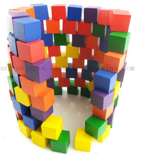 Custom Colorful Children Kids Wooden Puzzle Building Block Toy pictures & photos