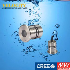 1W Waterproof CREE Multi Color Stainless Steel IP68 Aquarium Pool Light pictures & photos