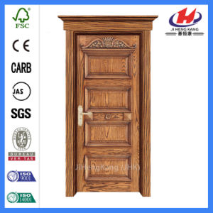 Contemporary Craftsman Interior Solid Wood Wooden Carved Door (JHK-G16) pictures & photos