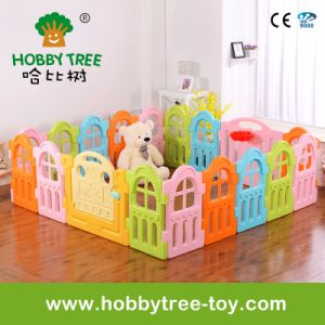 2017 Macarons Color Square Indoor Plasct Baby Fence at Home (HBS17061A)