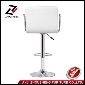 Anji Armrest Stainless Steel High White Bar Chairs Zs-602A pictures & photos