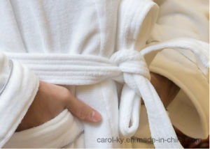 Cotton Velour Hotel Textile Hotel Bathrobe pictures & photos