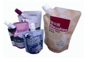 Custom Flexible Plastic Spout Pouch Liquid Packaging Bags for Detergent pictures & photos