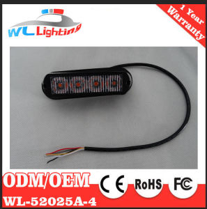 LED Emergency Vehicle Grille Light 4W 4LEDs Amber Red Blue White Green pictures & photos