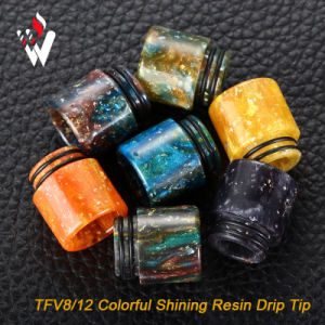 Tfv8 Colorful Shining Resin Drip Epoxy Resin Drip Shining Color Resin Drip Tip for Tfv8 Tfv12 pictures & photos