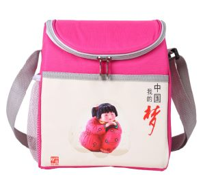 Polyester Cheap Simple Insulated Lunch Bag for Food pictures & photos