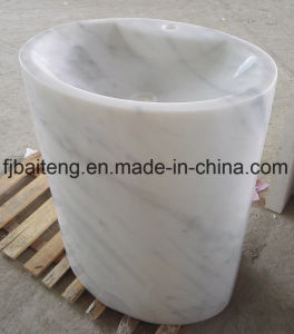 Guangxi White Marble Pedestal Sinks pictures & photos