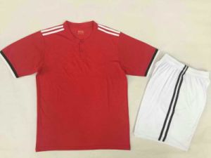 1718 Fashion Man Red Soccer Jersey pictures & photos