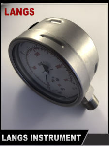 072 W Type Bottom All St St Pressure Gauge pictures & photos